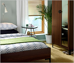 растения в спальне